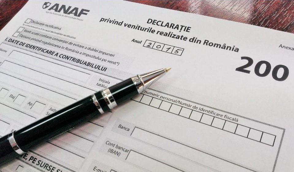 Declarație fiscală ANAF / Sursa foto: FB ANAF