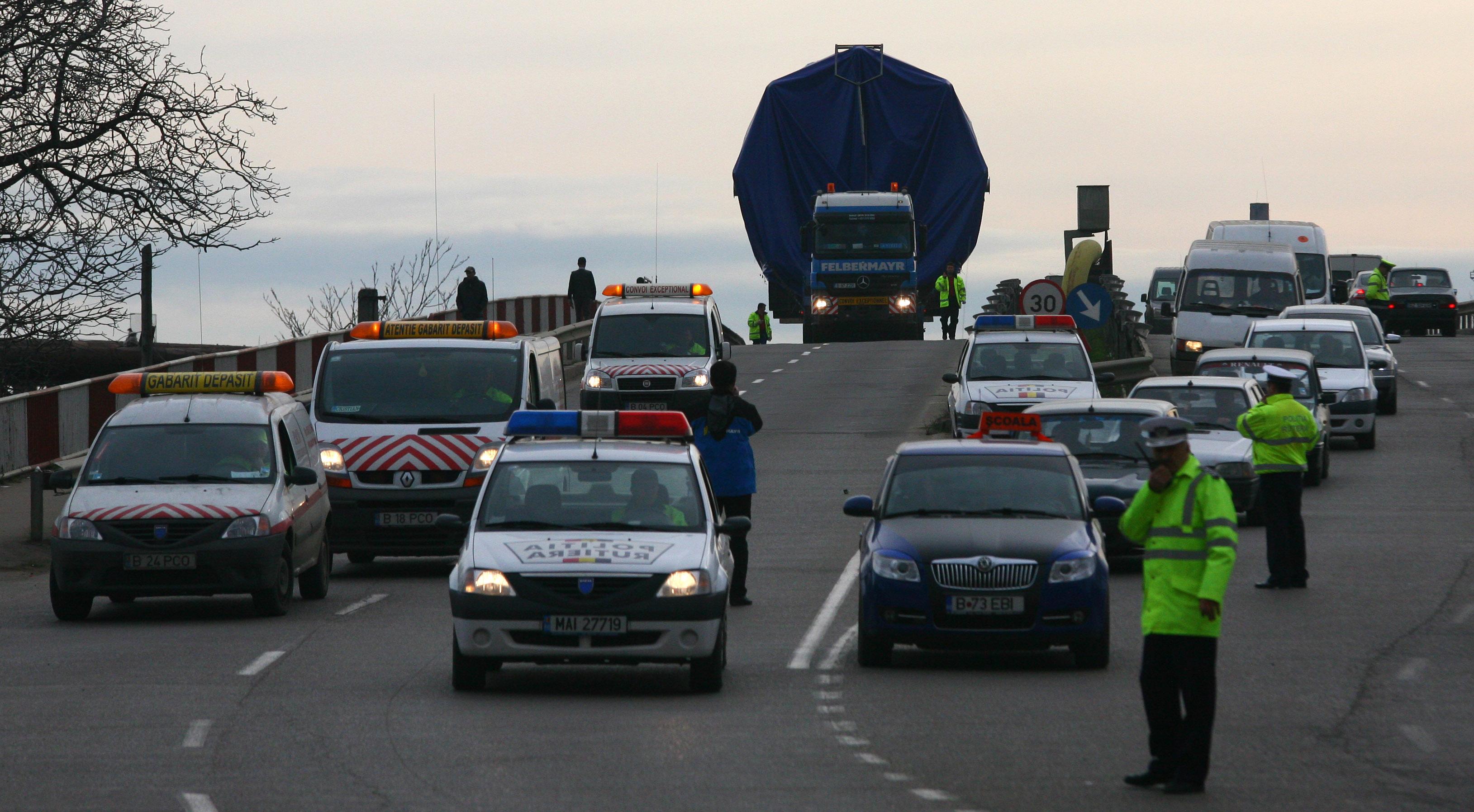 Transport agabaritic / Sursa foto: MEDIAFAX FOTO