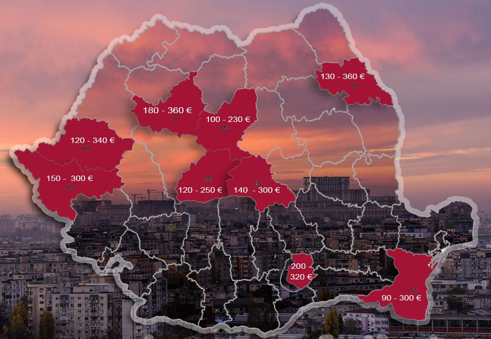 Harta chiriilor pentru studenți. Topul celor mai scumpe orașe din țară