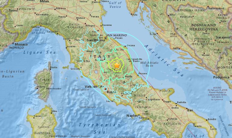 Peste 100 de replici ale cutremurelor din Italia într-o singură noapte. Fenomenul ar putea dura câteva luni