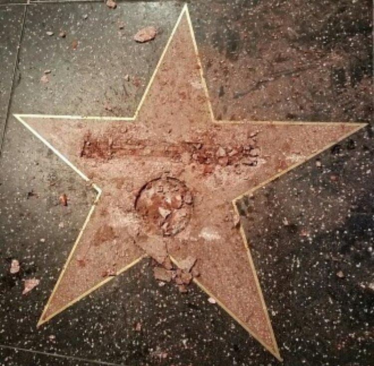 Bărbatul care a vandalizat steaua lui Trump, arestat. Cum şi-a motivat decizia