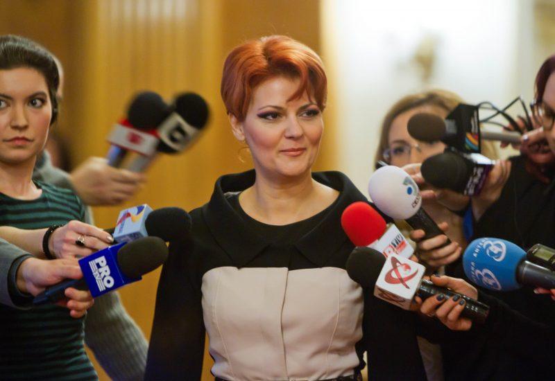 Lia Olguta Vasilescu a anunțat cresterea salariilor cu 25%