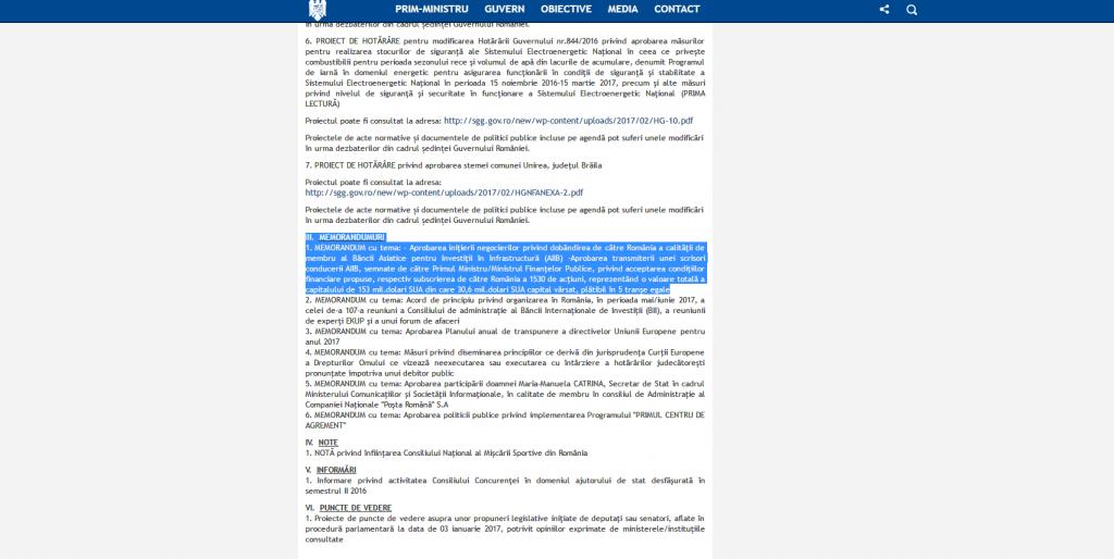 România vrea să participe la AIIB
