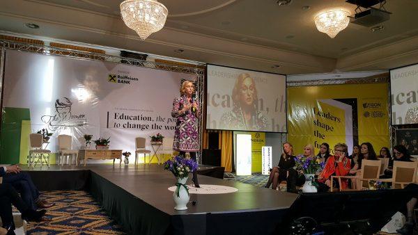 Gabriela Szabo la Conferinţa de Leadership Feminin The Woman / Foto: Adela Raluca Moldovan Facebook