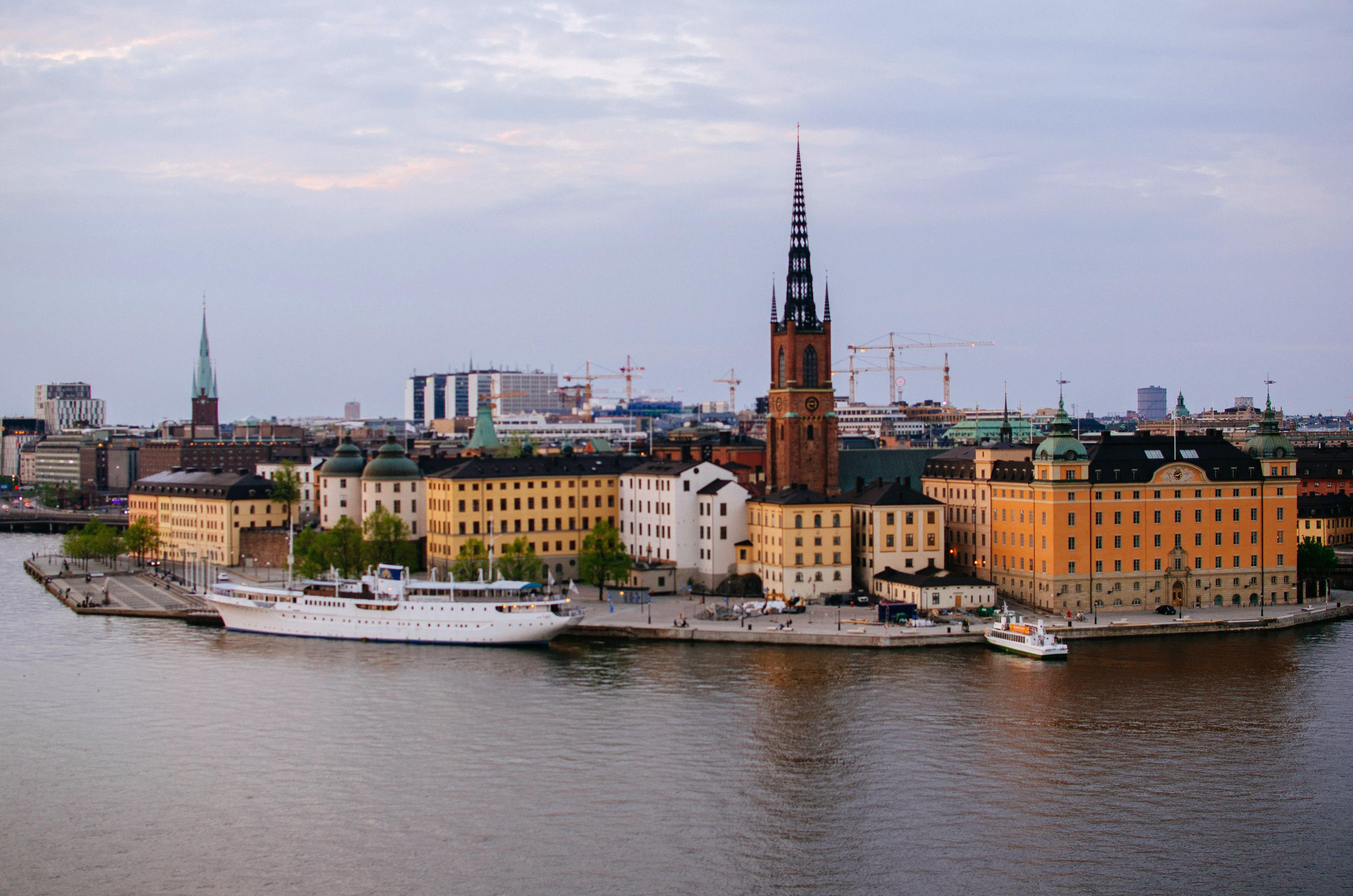Stockholm văzut de pe Monteliusvägen